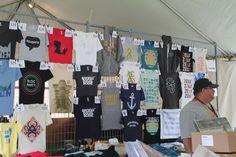T-shirts on display