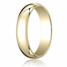 5MM Classic Domed 10K Gold Traditional Fit Wedding Ring. Price starts at $189.99. Price increase for sizes 8+. Find out more at Ring-Ninja.com!   #goldrings #ringninja #yellowgold #realgold #affordablerings #goldrings