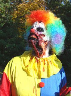 ZOMBIE Makeup JAW DROP CLOWN Special FX Prosthetic Latex KILLER CLOWNS #Handmade