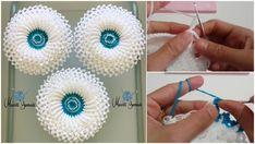 Lahana Lif Yapılışı Crochet Flower Patterns, Crochet Designs, Crochet Flowers, Crochet Cord, Crochet Stitches, Hobbies And Crafts, Diy And Crafts, Crochet Baby Booties Tutorial, Cute Little Kittens