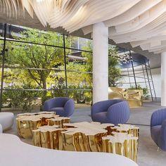 Instagram New York School, The Next, Ceiling Design, Design Inspiration, Table Decorations, Interior Design, Career, Interiors, Furniture