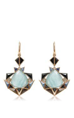 Aquamarine Drop Earrings by NAK ARMSTRONG for Preorder on Moda Operandi
