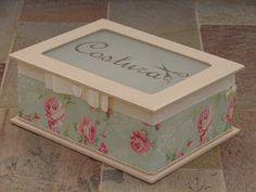 Bell'Arte - Arte em madeira e tecido: Caixa de Costura