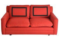 1960s Red Wool Sofa on OneKingsLane.com