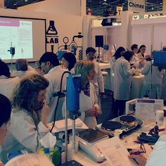 In Cosmetics 2016 trade show, Evonik lab session.