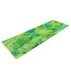 """Rosie Brown """"Going Green"""" Emerald Yoga Mat from KESS InHouse  #yogamat #yoga #mat #fitness #exercise #fit #gym #kessinhouse"""