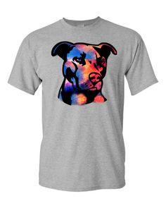 I Love My Pitbull Dog Lover Tee T-Shirt Bully Rescue Trainer V-Neck tee