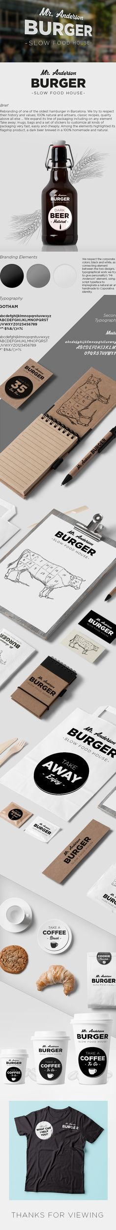 Mr. Anderson Burger on Behance by Erik from Oz. What could be better than a burger and a beer packaging PD