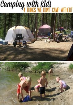 If you are, do you and your family enjoy camping? As fun and exciting as camping can be, it can be a little bit frustrating or stressful when you go camping with young children. Camping Ideas, Rv Camping Checklist, Camping Activities, Camping Essentials, Camping Life, Family Camping, Camping Hacks, Luxury Camping Tents, Tent Camping