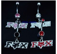 NEW White Fox Racing Belly Button Ring for sale on Trade Me, New Zealand's auction and classifieds website Belly Button Piercing Jewelry, Bellybutton Piercings, Piercing Ring, Body Piercings, Belly Rings, Belly Button Rings, Ear Rings, Fox Racing Nails, Fox Rider