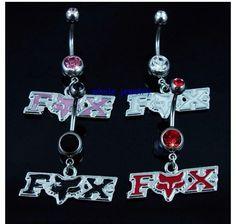 Fox Rider Belly Button Ring