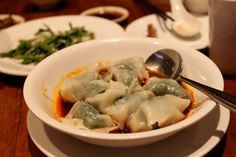 Last item, 紅油炒手 wonton in spicy chili oil._ You like wonton? Then you'll love this. Same chili oil as the noodle so it really gives the wonton a distinct flavor. The wonton filling is pork & chives, which is my favorite combination.    Looking at it just gets your appetite going
