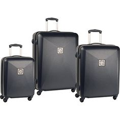 Anne Klein Prague Three Piece Hard Side Set Navy One Size >>> This is an Amazon Affiliate link. Check out this great product.
