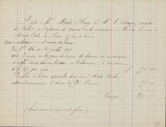 Bill of sale for dance lessons from Mata Hari (1876-1917). Mata Hari Papers, MS Fr 132 (10), Houghton Library, Harvard University. 1911