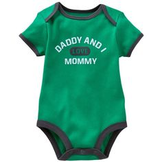 Carter's Daddy And I Love Mommy Bodysuit - Newborn ($7.99) ❤ liked on Polyvore