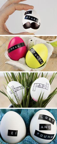 6 ideas para decorar huevos de Pascua con una etiquetadora