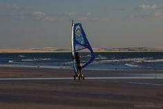 Cardboard windsurf na Praia Principal
