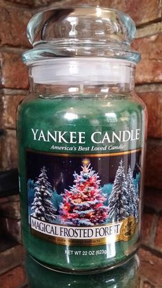 YANKEE CANDLE FESTIVE RARE LARGE JAR - VHTF - MAGICAL FROSTED FOREST -