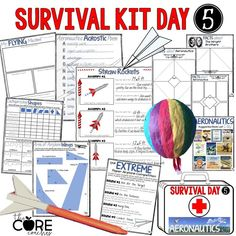 "eachers!!! You need these survival kits for your last 2 weeks of school! This is day 5 ""Aeronautics Day"" for 5th and 6th grade in a 10 day bundle!"