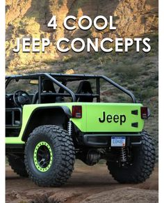 In honor of Jeep's 75th birthday, the Jeep design team debuted seven concept cars in Moab, Utah, and they didn't hold back! The Jeep Trailcat in bright neon green features a 707-horsepower Hemi engine and rides on beadlock wheels and 39-inch tires. The FC 150 Retro Mod celebrates the pickup truck, transforming a 1960 FC 150 into a heritage concept for the modern era. The Jeep Shortcut is built on the current Wrangler platform. Head to eBay to learn all about these cool Jeep concept cars.