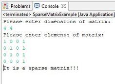 java program to check sparse matrix - https://www.flowerbrackets.com/java-program-check-sparse-matrix/ Sparse Matrix, Learn Wordpress, Java, Programming, Coding
