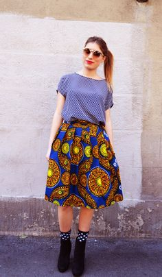 skirt fabric African print by EssereAtelier on Etsy #ankara ~Latest African Fashion, African women dresses, African Prints, African clothing jackets, skirts, short dresses, African men's fashion, children's fashion, African bags, African shoes ~DK
