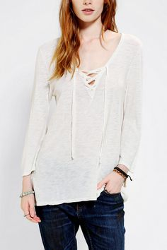 Truly Madly Deeply Lace-Up Tee
