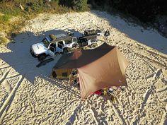 Drifta camping set up on the beach