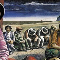 """Detalle de """"Desocupados"""" (1934) Antonio Berni"""