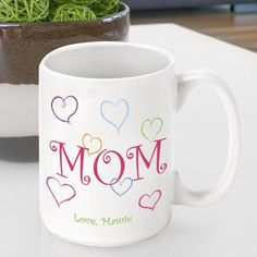 Treat your mother to one of our custom Personalized Mother's Day coffee mugs. With every sip, she'll feel your love and the world will know how special your mom is. Available in a variety of styles, o Personalized Mother's Day Gifts, Personalized Coffee Mugs, Mother Birthday Gifts, Mother Gifts, Mothers, Mug Crafts, Diy Gifts For Mom, Mother's Day Mugs, Mom Mug