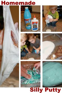 2 ingredient homemade silly putty