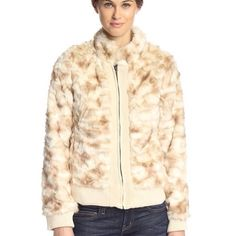 Coffeeshop Plush Ivory Faux Fur Jacket Perfect for this season! Gorgeous faux fur jacket in Ivory. Front zip closure, ribbed knit trim, side pockets. Refer to measurements in pic 3 for true fit. Size is labeled large. NWT. Bundle for additional discount. ❌NO TRADES ❌ NO PP❌ NO LOWBALLING ❌ Coffeeshop Jackets & Coats