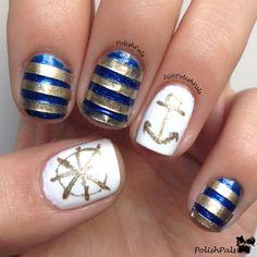 Polish Pals: Nautical Nails