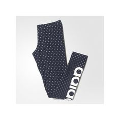 adidas Dots Allover Print Trefoil Leggings ($30) ❤ liked on Polyvore featuring pants, leggings, red, stretchy leggings, dot leggings, print leggings, polka dot pants and adidas pants