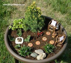 great website for fairy gardens with furniture and houses to buy, a plant guide, etc.