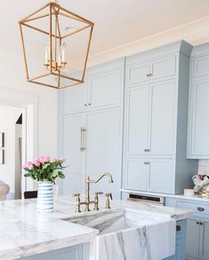 light blue cabinets