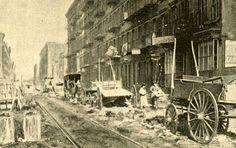 Rivington and Delancy Streets, 1893