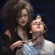 """In the scene in """"Harry Potter and the Order of the Phoenix"""" when Bellatrix and Neville come face to face, Helena wanted to use her wand like a Q-tip to torture Matthew's ear. Unfortunately, Matthew accidentally moved toward the wand as she was prodding it and ended up perforating his eardrum! He was deaf in that ear for a few days. #HarryPotter"""