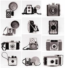 Vintage Camera Collection Retro Photo Set by ShadetreePhotography, $76.00