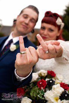 An alternative rockabilly wedding photography by...  www.vickiclaysonphotography.com