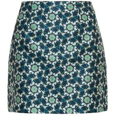 Ted Baker Frelia Swallow Skirt (225 BRL) ❤ liked on Polyvore featuring skirts, mini skirts, ted baker, print mini skirt, a line mini skirt, pull on skirts, patterned mini skirt and floral mini skirt
