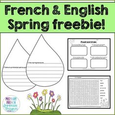 once in English. Word search for spring words Bulletin board template ...