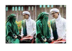 emerald green niqab