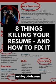 8 Reasons Your Resume Is Ending Up In the Trash High School Jobs, Admin Work, No Experience Jobs, List Of Skills, Interview Process, Best Resume, Marketing Materials, Copywriting, Career Advice