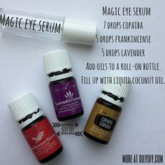 Magic Eye Serum Young Living Essential Oils www.oilydiy.com #oilydiy #foryou