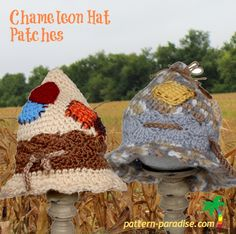 Crochet Pattern for brimmed hat, Patches Scarecrow Hat, Witch Hat, Pointed Hat Halloween Hat, Costum Crochet Fall, Holiday Crochet, Halloween Crochet, Crochet For Kids, Free Crochet, Knit Crochet, Crochet Crafts, Crochet Projects, Yarn Crafts