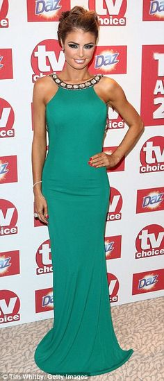 TOWIE done clasy at TV choice awards... love the colour!