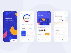 Mobile Banking App by Neentech on Dribbble Mobile App Design, Mobile Ui, Ux Design, Design Layouts, Design System, Flat Design, Interface Design, User Interface, App Design Inspiration
