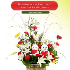 This Christmas share your love with loved ones via #heart2heart. Visit http://www.heart2heart.in/  #merrychristmas2014 #santaclaus #gift #teddybear #flowers