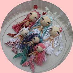 Dolls Mermaid on Pinterest | Mermaids, Doll Patterns and Mermaid Dolls
